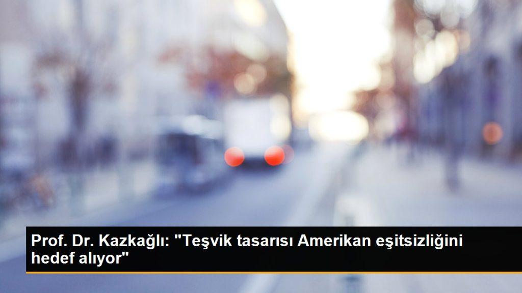 """Prof. Dr. Kazkağlı: """"Teşvik tasarısı Amerikan eşitsizliğini hedef alıyor"""""""